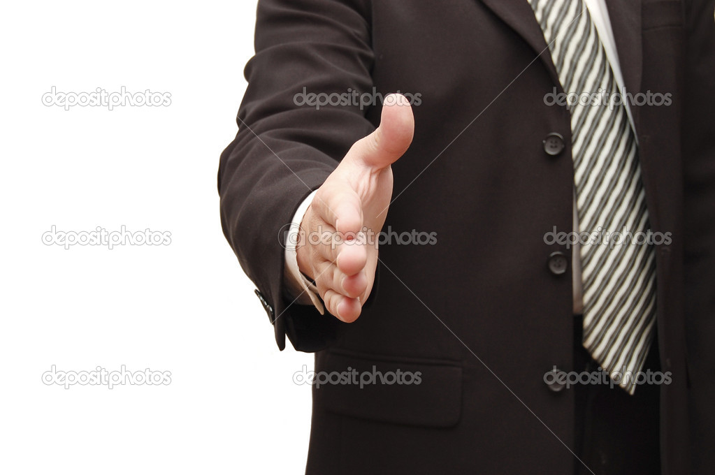 Hand of man ready for handshake — Stock Photo #1370105