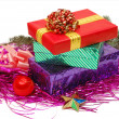 Boxes with gifts — Stock Photo #1382874
