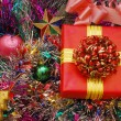 Stock Photo: Christmas ornaments and gifts