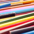 Close up of old colour pencils - Foto de Stock