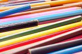 Close up of old colour pencils — Stock Photo