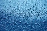 Water droplets on glass — Stock Photo