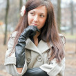 Outdoor portrait of a young woman — Stock Photo