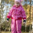 Little girl lin the autumn in park — Stock Photo #1409285