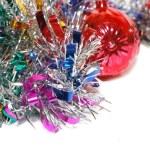 用一个红色的玩具圣诞节金属丝 — 图库照片