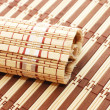 Closeup of bamboo mat background — 图库照片