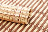 Closeup of bamboo mat background — Stock Photo