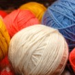 Multi-coloured balls of a wool — Stock Photo