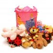 Royalty-Free Stock Photo: Different toys laying about a box