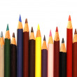 Stock Photo: Assortment of coloured pencils