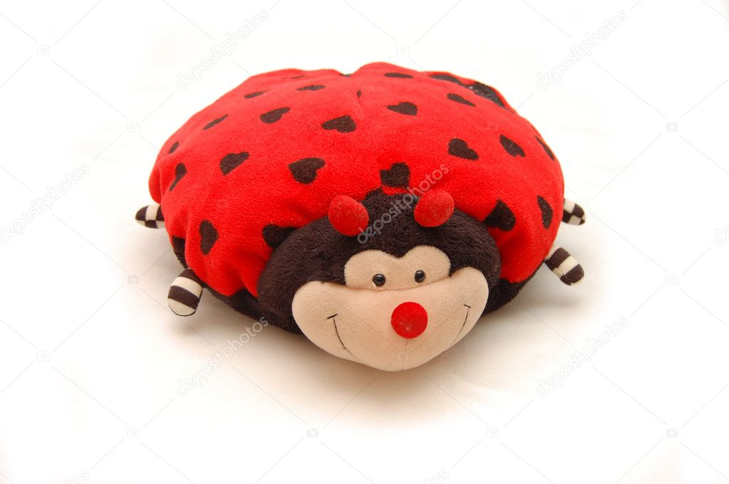 Toy - a ladybird on a white background — Stock Photo #1437043