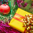Christmas ornaments and gifts — Stock Photo