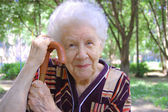Portrait de la vieille femme — Photo