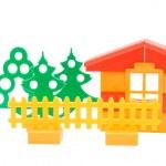 Toy house isolated on white background — Stock Photo