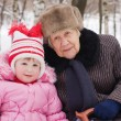 The little girl with the grandmother — Stock Photo #2490529