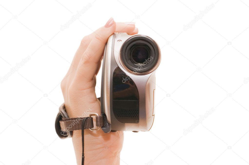 Videocamera in a female hand  — Stockfoto #2490604