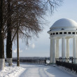Rotunda on river Volga quay in Yaroslavl - Stock Photo