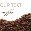 Aromatic coffee beans on white — Stockfoto