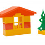Toy house isolated on white — Stock Photo