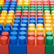 Multi-colored plastic blocks — Stock Photo
