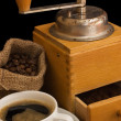 Old coffee grinder — Stock Photo