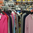 Clothes sale in supermarket — Stock Photo #2533492