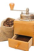 Old coffee grinder isolated — Stock Photo
