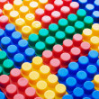 Multi-colored plastic blocks - Stock Photo