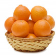 Fresh tangerines isolated on white — Stock Photo