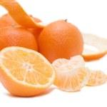 Fresh tangerines isolated on white — Stock Photo #2541660