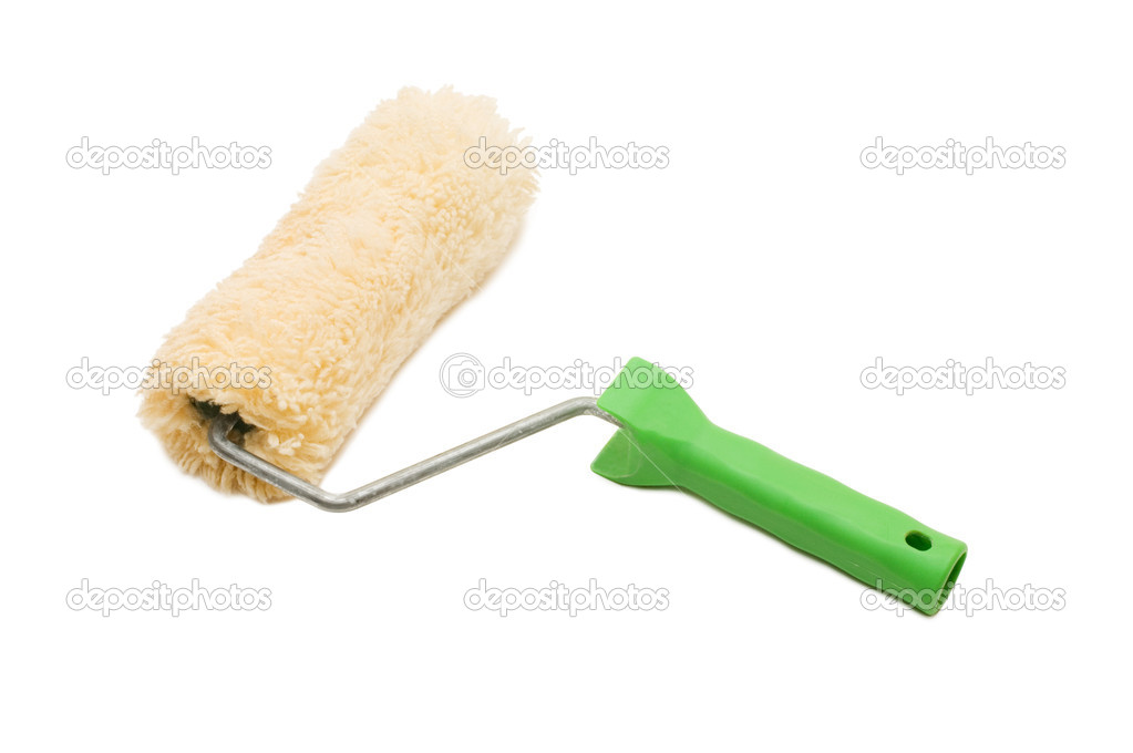 Paint roller isolated on white background — Stock Photo #2543043