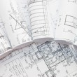 Foto de Stock  : Rolls of Engineering Drawings