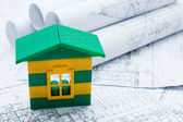 House model on the project — Stock Photo