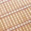 Closeup of bamboo mat background — Stock Photo