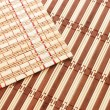Photo: Closeup of bamboo mat background