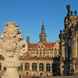 Gallery of old masters in Dresden — Stock Photo