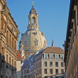 In streets of old Dresden - Stock Photo