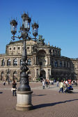 Kind on an opera of Dresden — Stock Photo