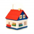 Small house constructed of toy blocks — Stock Photo #2595663