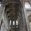 Inside in a Gothic cathedral of Paris — 图库照片