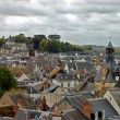 Stockfoto: Roofs of small city in France