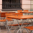 Cafe with tables and chairs in Berlin — Stock Photo