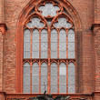 Fragment of a facade of a cathedral about a stai — Stock Photo