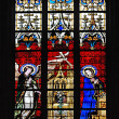 Stock Photo: Stained-glass window in church
