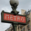 Stock Photo: Paris Metro Sign