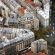The paris`s housetops and crossroads - Stock Photo