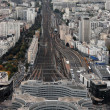 nice aerial city view of montparnasse — Stock Photo