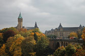 Kind on a fortress in Luxembourg — Stock Photo