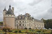 Chateau and Garden Chenonceau castle in France — Stock Photo