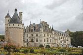 Chateau och trädgård slott chenonceau i frankrike — Stockfoto